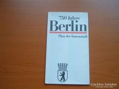 BERLIN NÉMET (NDK) VÁROSTÉRKÉPE 1986