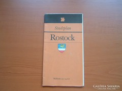 ROSTOCK NÉMET (NDK) VÁROSTÉRKÉPE 1987
