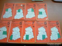 NÉMET (NDK) 1-9 TÉRKÉPE 1987 1:200.000 EGYBEN VAGY KÜLÖN 400