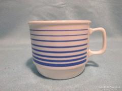 Kék csíkos Zsolnay bögre, csésze