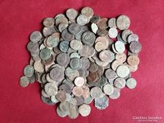 Római érmék, tisztítatlan, 210 darab