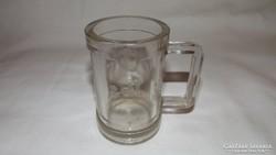 Antik  mérő üvegpohár vastagfalú 2 dl