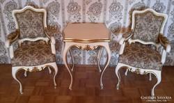 Eredeti antik barok asztal 2 székkel