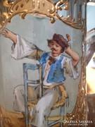 Metszett üveg - fedeles korsó ( 19 cm)