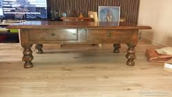 Antik asztal két fiókos
