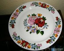 Kalocsai kézi festett porcelán fali tányér 24 cm