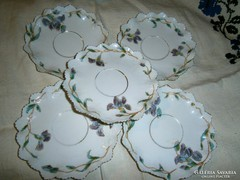 MZ. porcelán- kézi festéssel 5 db antik tányér