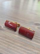 Régi mandzsetta vörös jáspis kővel