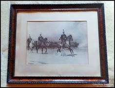 1848 - as Huszárok keretezett kép