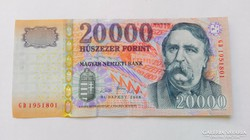 1999 évi, 2007 évi, 2009 évi 20.000.-Ft-os bankjegy UNC.