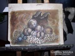 Gyümölccsendélet, olajfestmény a festőtől közvetlenül