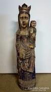 Madonna gyermekével (fa szobor)