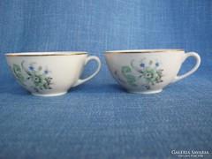 Kispesti porcelán kávés csésze pár