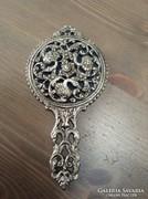 Régi madars díszítésű fém kézi tükör
