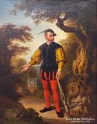 Jaroslav Cermák : Íjászmester próbája olaj , vászon 1850