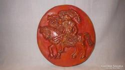 Jelzett zsűrizett iparművész kerámia falikép