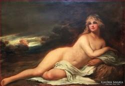 Augusta Jensen: Angyali antik akt  (kb. 130 éves remekmű)