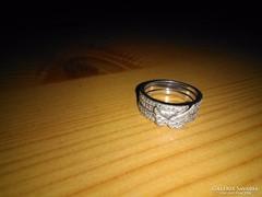 NŐNAPI VÉGKIÁRUSÍTÁS!! Angyalszárnyas gyűrű