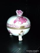Herendi lábakon álló rózsa fogós Apponyi bonbonier