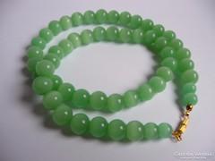 Zöld opálos üveg nyaklánc
