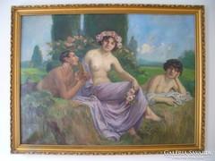 Geiger Richárd nagyméretű festmény