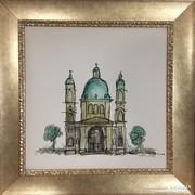 Szent István Bazilika Budapest akvarell