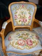 Gobelin kárpitos fotel, karosszék