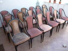 """Wiener Werkstatte, """"Prutscher"""", 18db Thonet szék"""