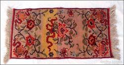 Régi rózsa - virágmintás szőnyeg , faliszőnyeg 54 x 102 cm.
