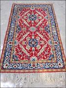 Régi szőnyeg , faliszőnyeg 98 x 160 cm. + rojt
