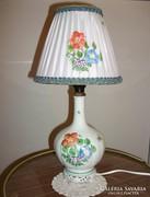 Herendi porcelán lámpa kézzel festett  lámpaernyővel