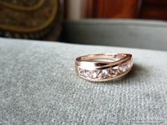 Páratlanul különleges és ritka drágaköves rózsa arany gyűrű