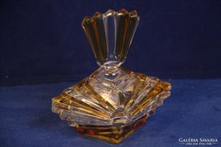 Art deco öntött üveg bonbonier (13A)
