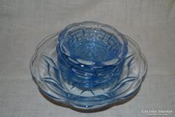 Kék üveg kompótos készlet ( DBZ 0069)