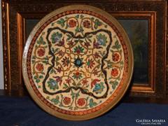 Terakotta tányér a XIX.szd.végéről kiváló állapotban