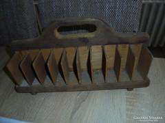 Fából készült trafikos cigis doboz tartó