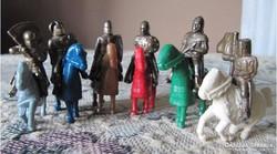 Kinder fém katona, figura lovasok 6db különbözö 1996