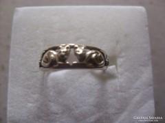 Ezüst Gyűrű Cicákkal