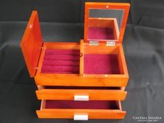 NAGY fa fiókos ékszeres ládikó tároló ékszertartó láda doboz