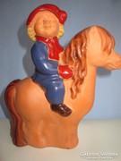 Terrakotta szobor art deco stílusban K.É. jelzéssel