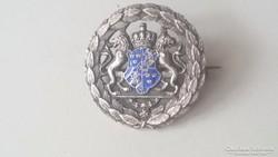 Gyönyörű tűzzománcos Svéd címeres ezüst kitűző (Svéd jelek)