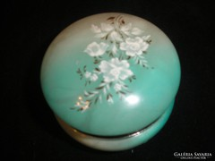 Türkiz zöld onix ékszertartó virág díszes szépség