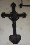 Antik 1881 feszület öntöttvas kereszt József korpusz