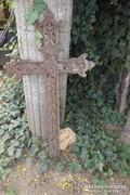 Antik 200 éves kereszt öntöttvas feszület korposz kb 80 cm