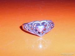 Régi SZÍV a SZÍVBEN  mint.Tibeti ezüst gyűrű