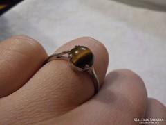 Gyűrű tigrisszem kővel