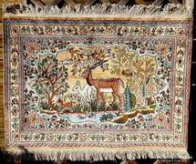 Gyönyörű kézi csomózású selyem perzsa szőnyeg
