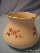 Antik rózsás jelzett váza U11