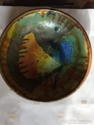 Jelzett iparművész kerámia falitál - art ceramic bowl (28)