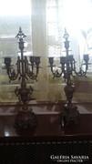 Neobarokk réz 5 ágú gyertyatartó
